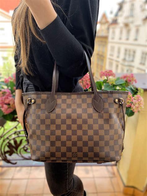 louis vuitton neverfull pm damier ebene canvas luxury bags