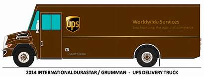 Ups Truck Delivery Clipart Drawings Clip Trucks