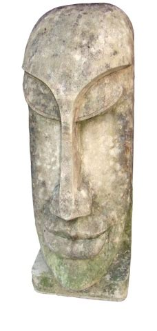 large vintage carved sculpture   pacific island head