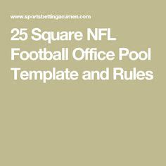 Office Football Pool Tips by A 25 Square Grid To Be Used In Office Bowl Pools