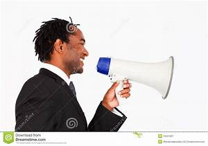 Business Announcement Through Megaphone Royalty Free Stock ...