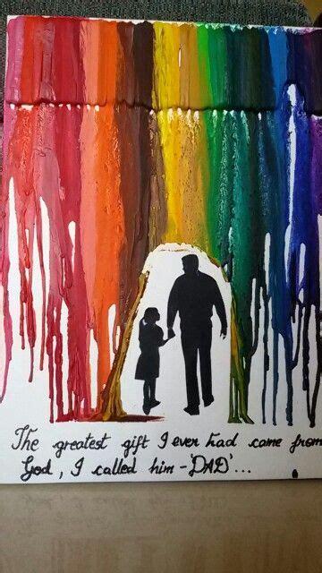diy birthday gift  dad melted crayon art diy