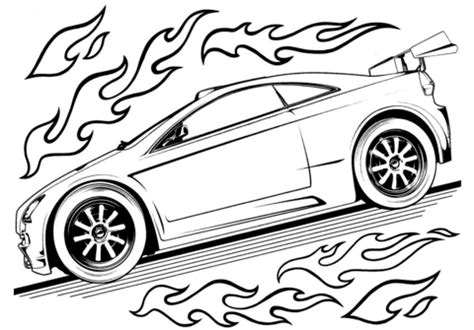 Hot Wheels Car coloring page Free Printable Coloring Pages