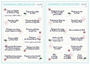 Idée Cadeau Calendrier De L Avent Adulte : calendrier de l 39 avent 25 activit s faire en famille ~ Melissatoandfro.com Idées de Décoration