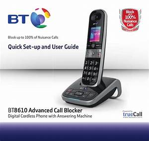 Bt 8610 Digital Cordless Phone User Guide