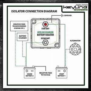 12v 140 Amp Dual Battery Isolator  U0026 Wiring Kit  U2013 Keyline