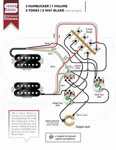Guitar Wiring Diagrams 2 Humbuckers 5 Way Switch