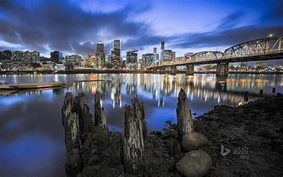 Portland Skyline Oregon Bing Willamette River Wallpapersafari