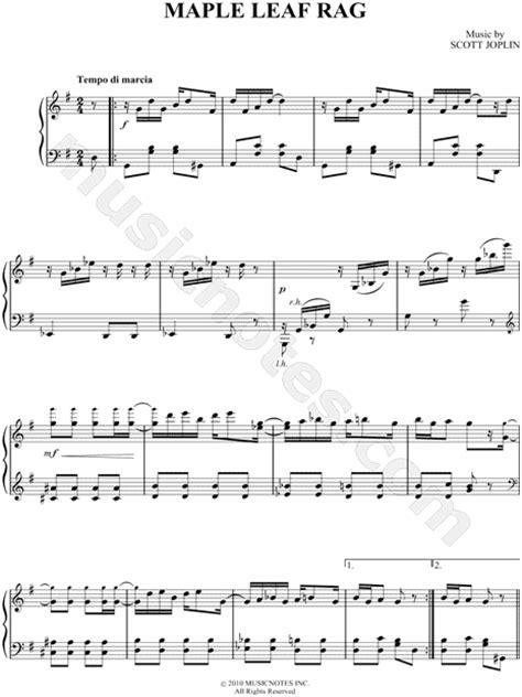 "Free sheet music, scores & concert listings. Scott Joplin ""Maple Leaf Rag"" Sheet Music (Easy Piano ..."