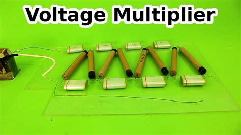 Voltage Multiplier With Homemade High Diodes Youtube