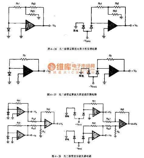 photodiode light detector circuit the photodiode application circuit led and light circuit