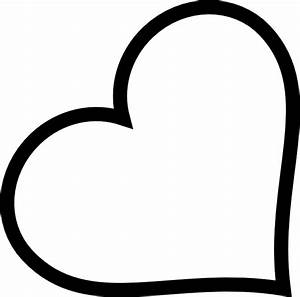 Heart Outline In Black Clip Art at Clker.com - vector clip ...