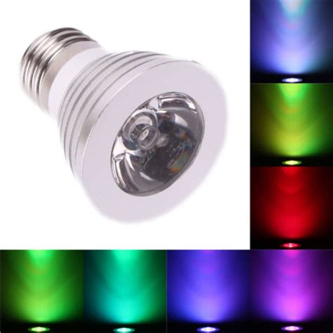 3w e27 16 color 80lm led rgb magic light bulb with