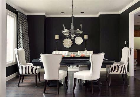 black  create  stunning refined dining room