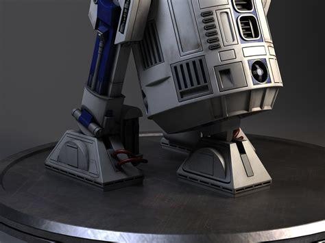 R2d2 Star Wars Droid Robot 3d Model .max .obj .3ds .fbx