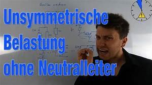 Stern Berechnen : unsymetrische belastung ohne neutralleiter mehrphasensysteme youtube ~ Themetempest.com Abrechnung