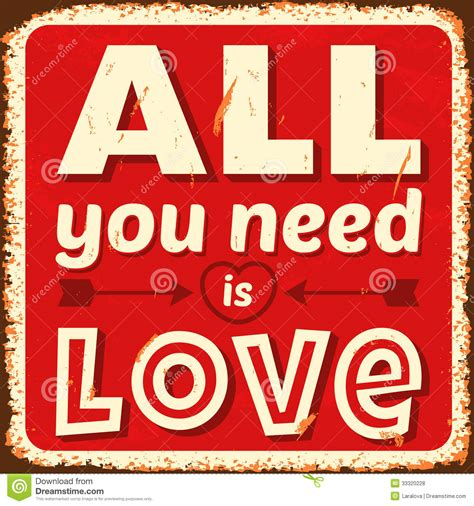 All You Need Is Love Stock Vector Illustration Of Concept