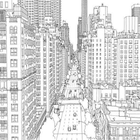 fantastic cities  page urban coloring book   adults urbanist