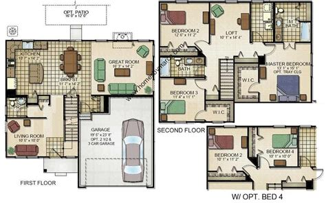 Centex Homes Floor Plans 2002 by Augusta Model In The Sweetwater Subdivision In Woodstock