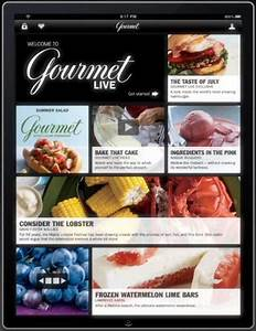 To ipad or not to ipad the power lunch for Gourmet live on ipad