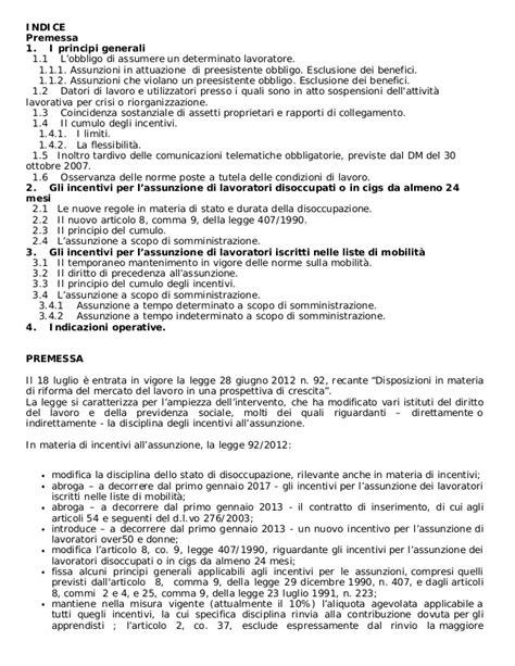 Assunzioni In Mobilità by Assunzioni Agevolate Inps