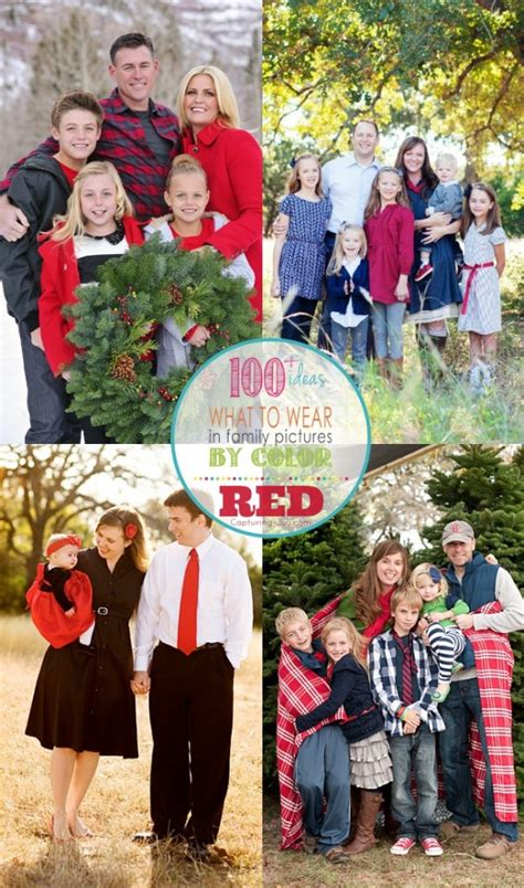 family picture outfits by color series red capturing joy