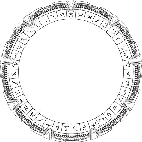 Archivomilky Way Stargate With Very Detailed Glyphs2svg