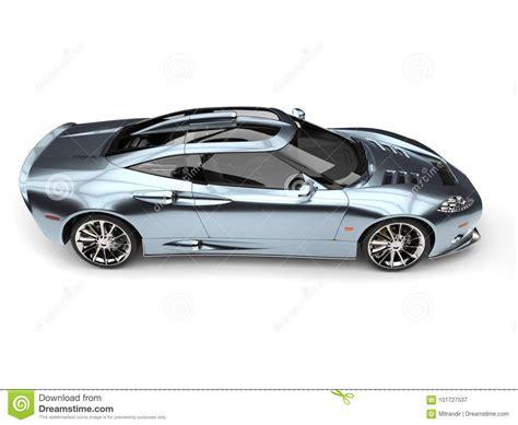 Shimmering Blue Luxury Super Sports Car Stock Illustration