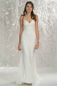 Spaghetti strap wedding dress with lace sang maestro for Spaghetti strap wedding dress