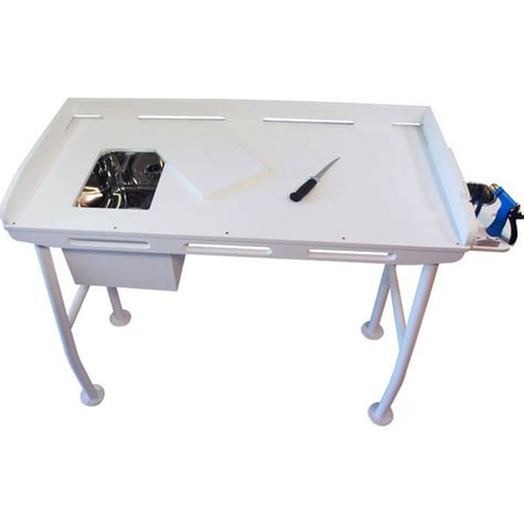 fillet table with sink 48 quot x 21 quot boat outfitters