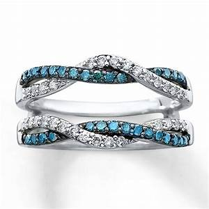 kay diamond enhancer ring 1 2 ct tw round cut 14k white gold With kay jewelers wedding ring enhancers