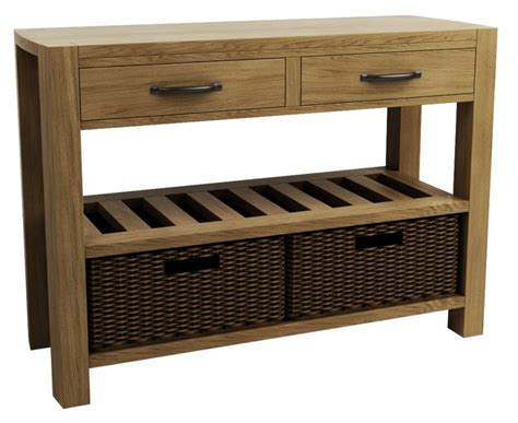 console table with baskets and drawers goliath double basket console table qualita