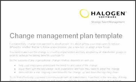 organizational change management plan template