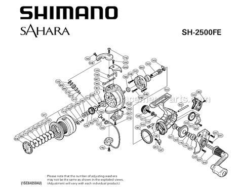shimano shfe parts list  diagram