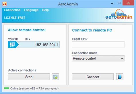 aeroadmin  review   remote desktop program
