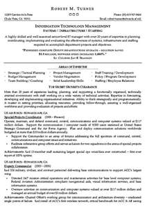 resume information technology manager information technology management resume exle it sle resumes