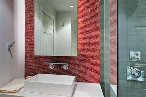 Gestaltung Mit Farbe Winzige Fliesen Rotorange Mosaik über