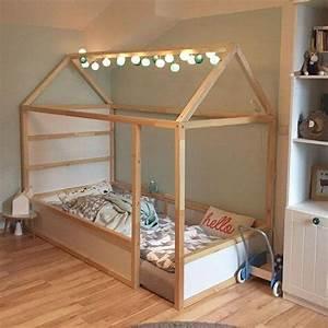 Lit Cabane Au Sol : des id es pour lit cabane tutos enfant ~ Premium-room.com Idées de Décoration