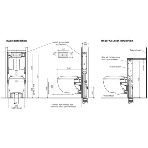 toilet carrier dimensions caroma contura wall hung invisi toilet suite thrifty