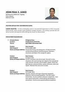 seafarer resume sample resume ideas With seafarer resume sample