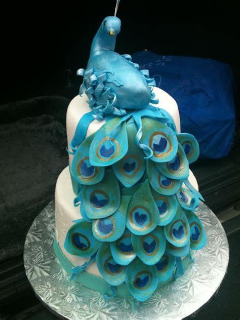 life   cupcake peacock cake  moms  birthday