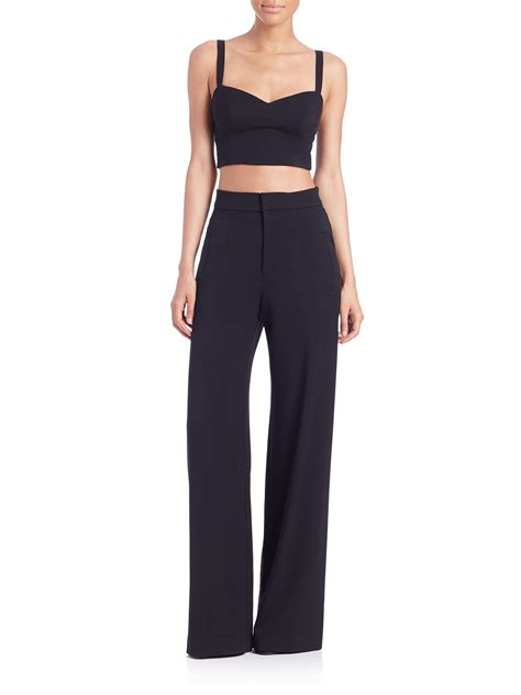 two jumpsuit black halo kalem two jumpsuit in black lyst