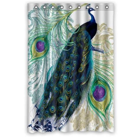 peacock shower curtain peacock shower curtains shower curtains outlet