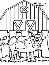 Cow Coloring Pages Farm Animals Printable Worksheets Worksheet Animal Kindergarten Sheets Education Crafts Barn Books Preschool Cows Colouring Craft Colour sketch template