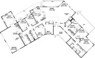 house plans with attached guest house ranch style house plans 3821 square foot home 1 story