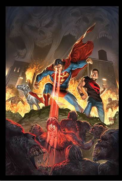 Superman Blackest Night Superboy Deviantart Dc Cov