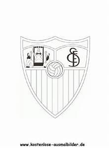 FC Sevilla Vereinswappen Fussball Ausmalen Malvorlagen