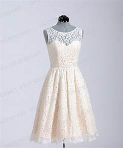 princess champagne lace short wedding dress wedding With champagne lace short wedding dress