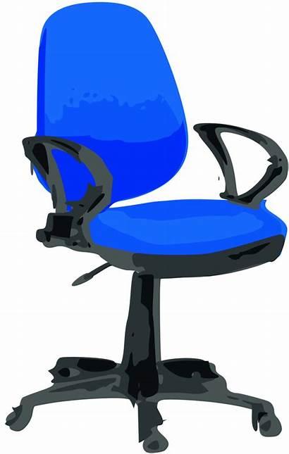Office Clipart Clip Desk Chair Cliparts Wheels
