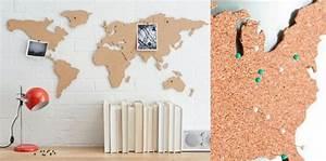 Carte Du Monde En Liège : une carte du monde murale en liege globe trotting le ~ Melissatoandfro.com Idées de Décoration
